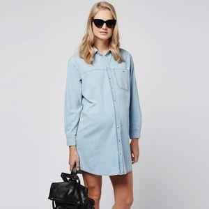Topshop Maternity Denim Shirt Dress- Size 4